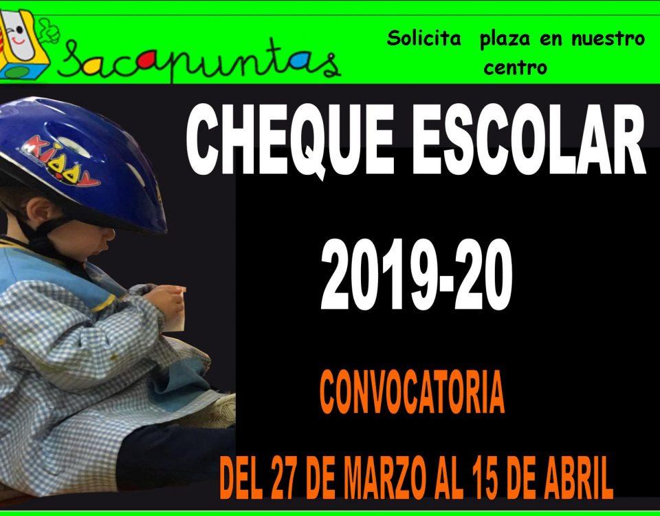Cheque de ayuda Escolar 2019 - 2020