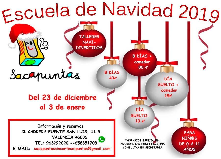 Escuela de navidad 2019 - 2020 Sacapuntas Valencia