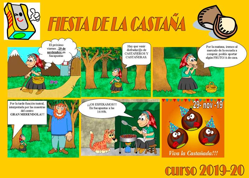Fiesta de la castaña en Sacapuntas Valencia